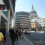 On the way to St. Paul's Cathedral.