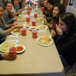 We enjoy dinner (Hopi tacos!) prepared for us by the wife of the Hopi medicine man.