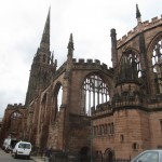 The old portion of the cathedral is pictured here.  Much of it was lost due to bombing in WWII.  It stands as a reminder of what we are capable of doing to each other and sparked much of the reconciliation work that is now associated with Coventry.