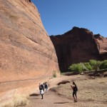 On our way down to the White House Ruins in Canyon de Chelly. Look at how small we are!
