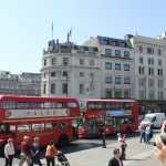 Old and new buses of London