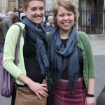 Sophie and Ida at Westminster Abbey