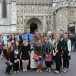 Art group at Westminster Abbey