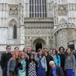 Theatre group at Westminster Abbey