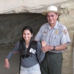 Ranger Benally used Samita as a demonstration to show how generations are connected. Her showed her place in a family tree might have connected her great-grandmother though her and to her great-granddaughter. Ranger Benally helped us recognize the importance of  passing down knowledge through family generations.