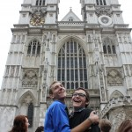 Seth and Brett at Westminster Abbey