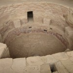 Inside of a Kiva with its roof removed in Spruce Tree House