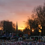 Sunset at Canal Festival in Little Venice