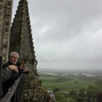 Doug on the top of Salisbury Cathedral