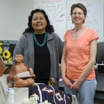 Janet with her friend, Mary Trejo, a 1996 Goshen graduate who help arrange our home stays in Navajo Nation.
