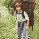 "Hidden in Wilderness Wind's 1991 photo album, Val Hershberger is seen carrying two 60 lb ""moose"" packs alone."