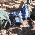 Each of us carried our own pack, which carried our own gear and clothes, as well as either a tent or food bag.  An extra bag was taken along containing other community gear such as stoves, cookware, bear ropes and water purifiers.