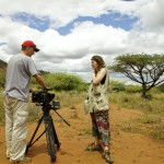 David & Elizabeth shoot broil at a Maasai village