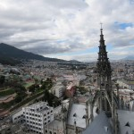 The city of Quito as seen from one of several towers that grace the Basilica
