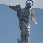 Close up of the Virgin of Quito
