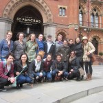 Visual Arts group outside the St Pancras Train Station Hotel
