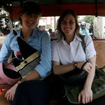 Annalisa and Allison in Tuk-Tuk