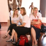 A Pensive Annie, Kat and Rachel, National Museum