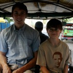 Niles and Simon in a tuk-tuk