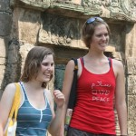 Allison and Annalisa at ruins