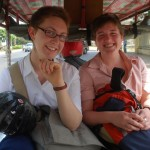Corinne and Bailey in tuk-tuk