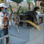 Making cane juice in Kampong Cham