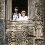 Mia and Simon at Bayon Temple