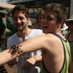 Michael and Julian with spider