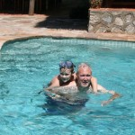Simon and Keith at pool