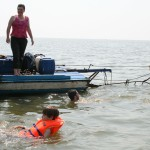 Swimming in the Tonle Sap