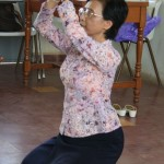 Teaching Apsara dancing