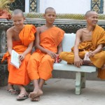 Monks at Buddhist temple