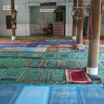 Prayer rugs at the mosque