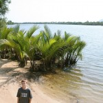 Simon on the shore of Tek Chhou
