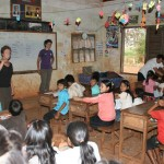 Teaching in Tampoun village