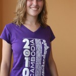 Allison with the SST Cambodia T-shirt