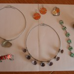 Kat's jewelry made from found objects
