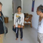 Ann, Nana, and host father Phy Sophon at Sophon's home