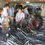 Thursday students picked up their brand-new bikes at local shop opened by local assistant Sen Marya's relatives.