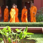 Boy monks at the National Museum.