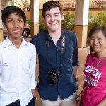 Brett with sister Neang Nana, who is our local family assistant, and Nana's brother.
