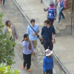 Jacob M and Brett walk the grounds at Tuol Sleng.