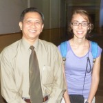 Jessie with her dad, Luy Chanpahl.
