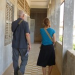 Keith and Jessie at Tuol Sleng.