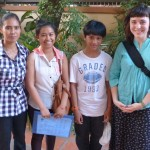 Lauren with Carina's family (see explanation), including her mother and sister Kanha and brother Ksatra.
