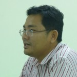 Lam Socheat, deputy director of Building Capacity for Change, spoke Friday about Seeking Good Governance.