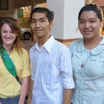 Maryn with her brother Dara and sister just before heading to their home near Tuol Sleng. Maryn's household consists of a number of socially active young adults who work with and found Cambodian NGOs.
