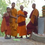 Monks near the top of Nokor Phnom.