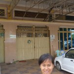 Nana, who is not only the family assistant for the unit but will also be a host sister, outside of her family home not far from the university where students will study Khmer language