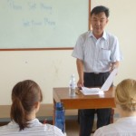 Teacher Sok Meng Tea with class.